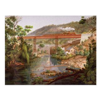 「MexicのアルバムからのAtoyacの鉄道橋、 ポストカード
