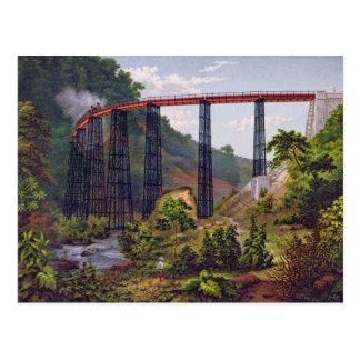 「MexicのアルバムからのMetlacの鉄道橋、 ポストカード