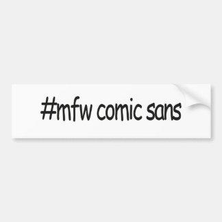 mfwの漫画sans バンパーステッカー
