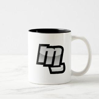 MGの握りこぶしの記号 ツートーンマグカップ
