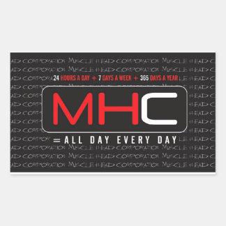 MHC 24-7-365のステッカー 長方形シール