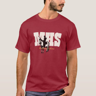 MHSの行進のインディアン -- 短い袖のティー Tシャツ