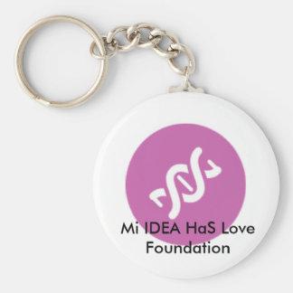 Miのアイディアは愛基礎Keychainのピンクを持っています キーホルダー