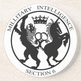 MI6ロゴの秘密情報機関のコースター コースター