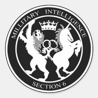 MI6ロゴ ラウンドシール
