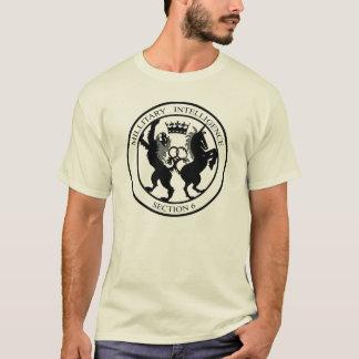 MI6秘密情報機関のロゴの黒 Tシャツ