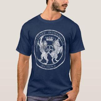 MI-6秘密情報機関のロゴの白い動揺して Tシャツ