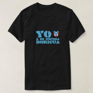 Mi Esposa Boricua Yo Amo Tシャツ