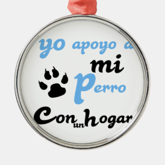 mi Perro Yoのapoyo メタルオーナメント