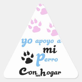mi Perro Yoのapoyo 三角形シール