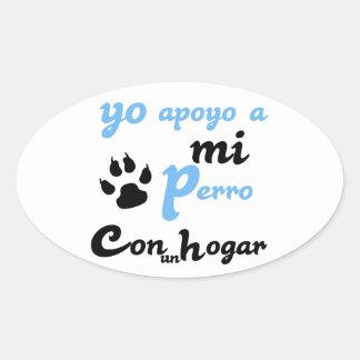 mi Perro Yoのapoyo 楕円形シール