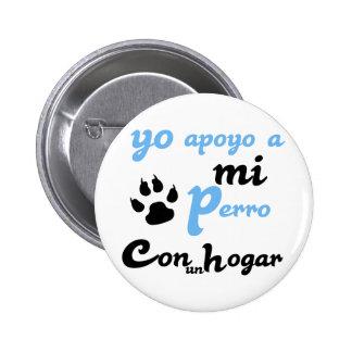 mi Perro Yoのapoyo 5.7cm 丸型バッジ