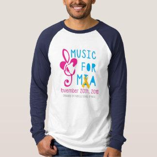 Miaの男性Raglanの長袖のための音楽 Tシャツ