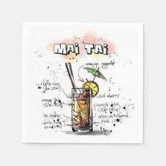 Mia Tiaの飲み物のレシピのカクテルのナプキン スタンダードカクテルナプキン