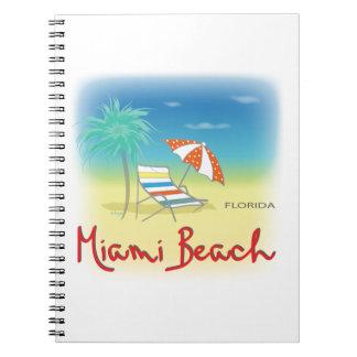 Miami Beachのやし ノートブック