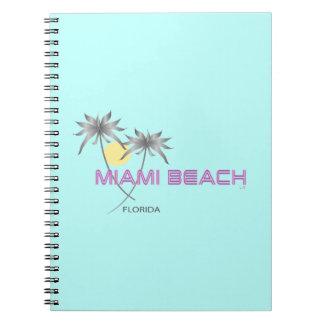 Miami Beachのピンクの灰色 ノートブック
