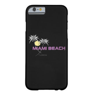Miami Beachのピンクの灰色 Barely There iPhone 6 ケース