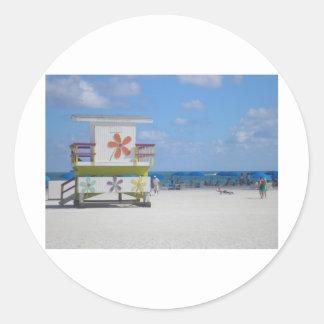 Miami Beachのライフガードの場所 ラウンドシール