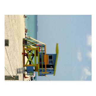 Miami Beachのライフガードの掘っ建て小屋 ポストカード