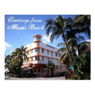 Miami Beachの海ドライブからの挨拶 ポストカード