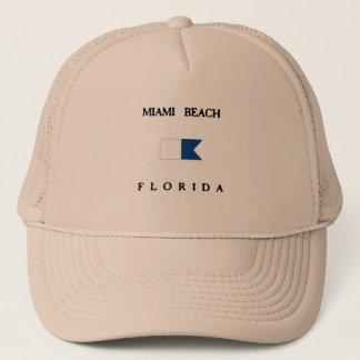Miami Beachフロリダのアルファ飛び込みの旗 キャップ