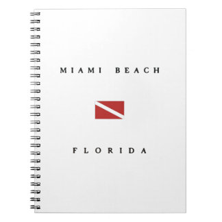 Miami Beachフロリダのスキューバ飛び込みの旗 ノートブック