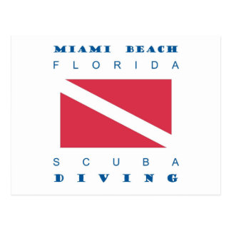 Miami Beachフロリダのスキューバ飛び込み ポストカード
