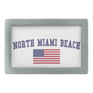 Miami Beach北の米国の旗 長方形ベルトバックル