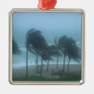 Miami Beach、フロリダのハリケーン風の打つこと メタルオーナメント