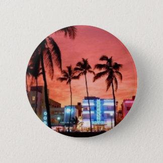 Miami Beach、フロリダ 缶バッジ