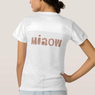 「miaowが付いている女性のフットボールのjerseyのTシャツ レディースフットボールジャージー