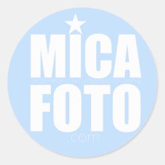 Micafotoのステッカー ラウンドシール