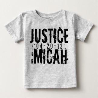 MICAHのための正義はTシャツをからかいます ベビーTシャツ
