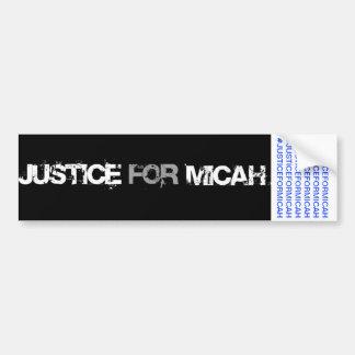 MICAHのバンパーステッカーのための正義 バンパーステッカー
