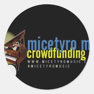 MicetyroMusic IndieGoGoのキャンペーン ラウンドシール