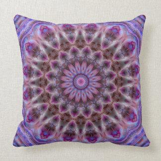 Michaelmasデイジーの豪華な曼荼羅の枕 クッション