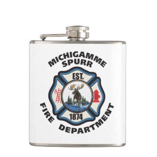 Michigamme Spurrの消防署のロゴのフラスコ フラスク