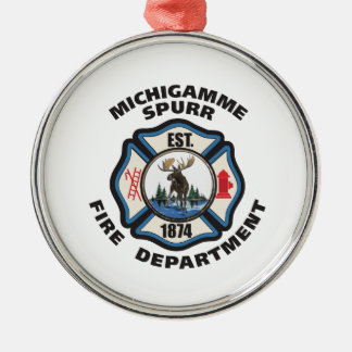 Michigamme Spurrの火Department.pdのより小さい司令官 メタルオーナメント