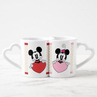 MickeyおよびMinnieのマグ ペアカップ