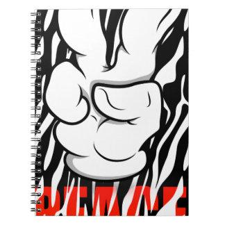 Mickeyのピースマーク指 ノートブック