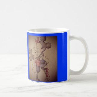 mickey及びminnieのコップ コーヒーマグカップ