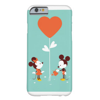 Mickey及びMinnieの水彩画のゆとり柔らかい愛ケース Barely There iPhone 6 ケース