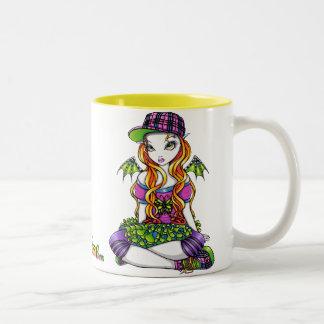 """""""Micky""""のPunkyの虹の妖精の芸術のマグ ツートーンマグカップ"""