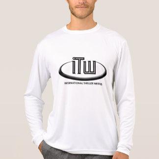 Microfiberの長袖T Tシャツ
