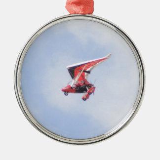Microlightの飛行機 メタルオーナメント
