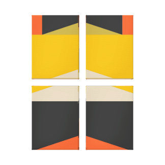 Mid Century Modern Abstract Art Geometric Shapes キャンバスプリント