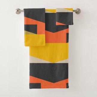 Mid Century Modern Abstract Art Geometric Shapes バスタオルセット
