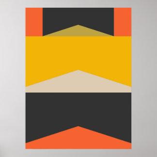 Mid Century Modern Abstract Art Geometric Shapes ポスター