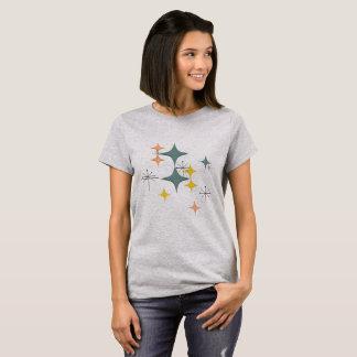 Mid Century Modern Eames Atomic Starbursts Pattern Tシャツ