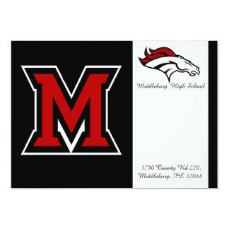 Middleburgの高等学校の卒業生。 発表 カード